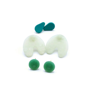 Sea Foam Studs (Set of 3)