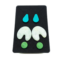 Load image into Gallery viewer, Sea Foam Studs (Set of 3)