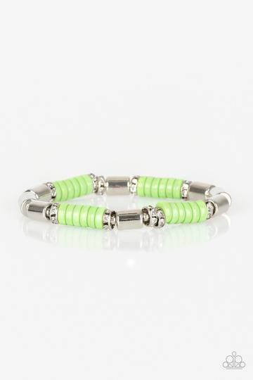 Whimsical Wanderer - Green Beads