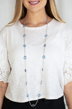 Load image into Gallery viewer, Glassy Glamorous - Blue Long Necklace