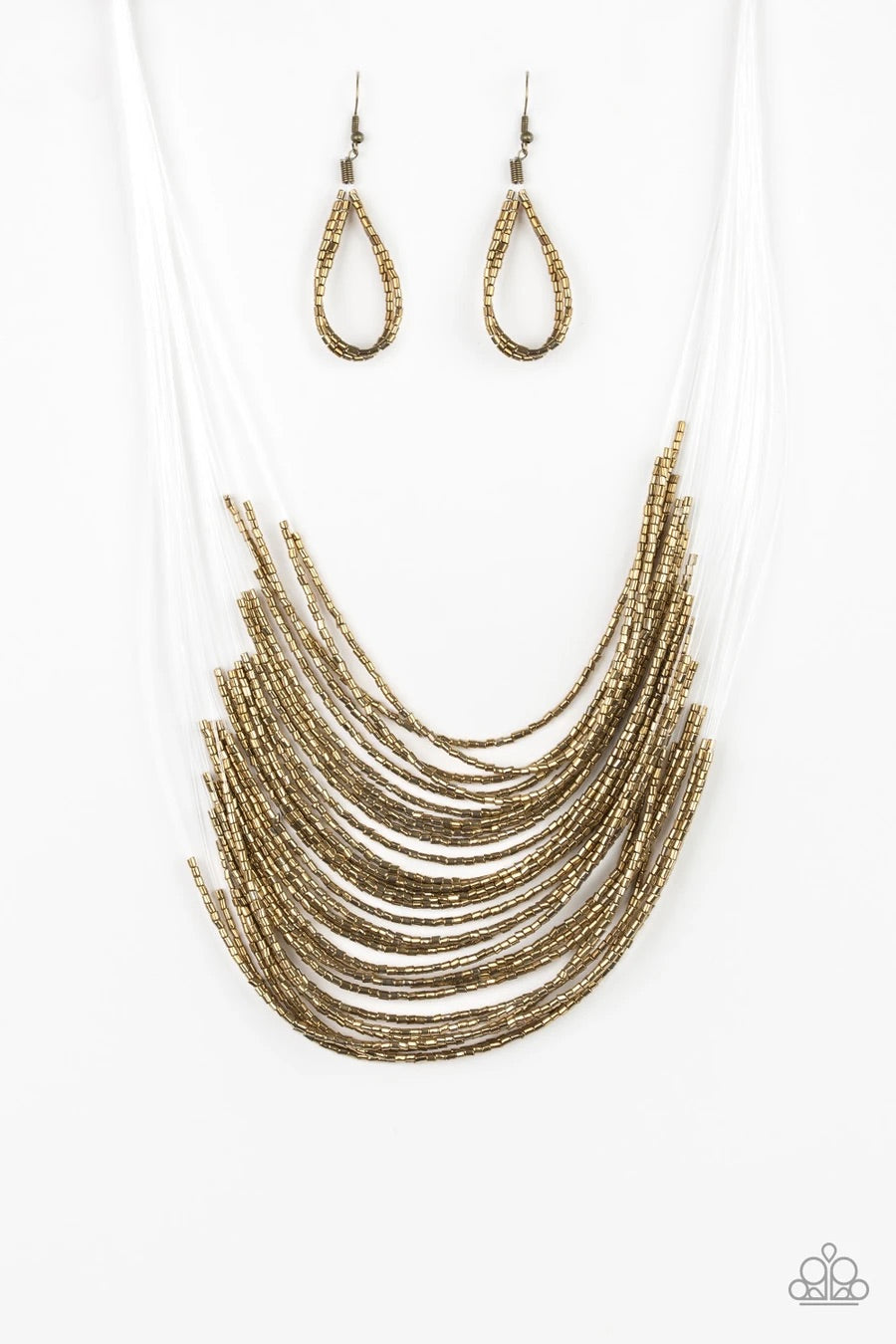 Catwalk Queen - Brass Necklace