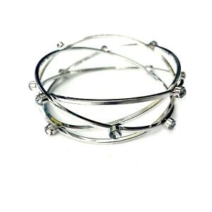 Rhinestone bangle crisscross bracelet