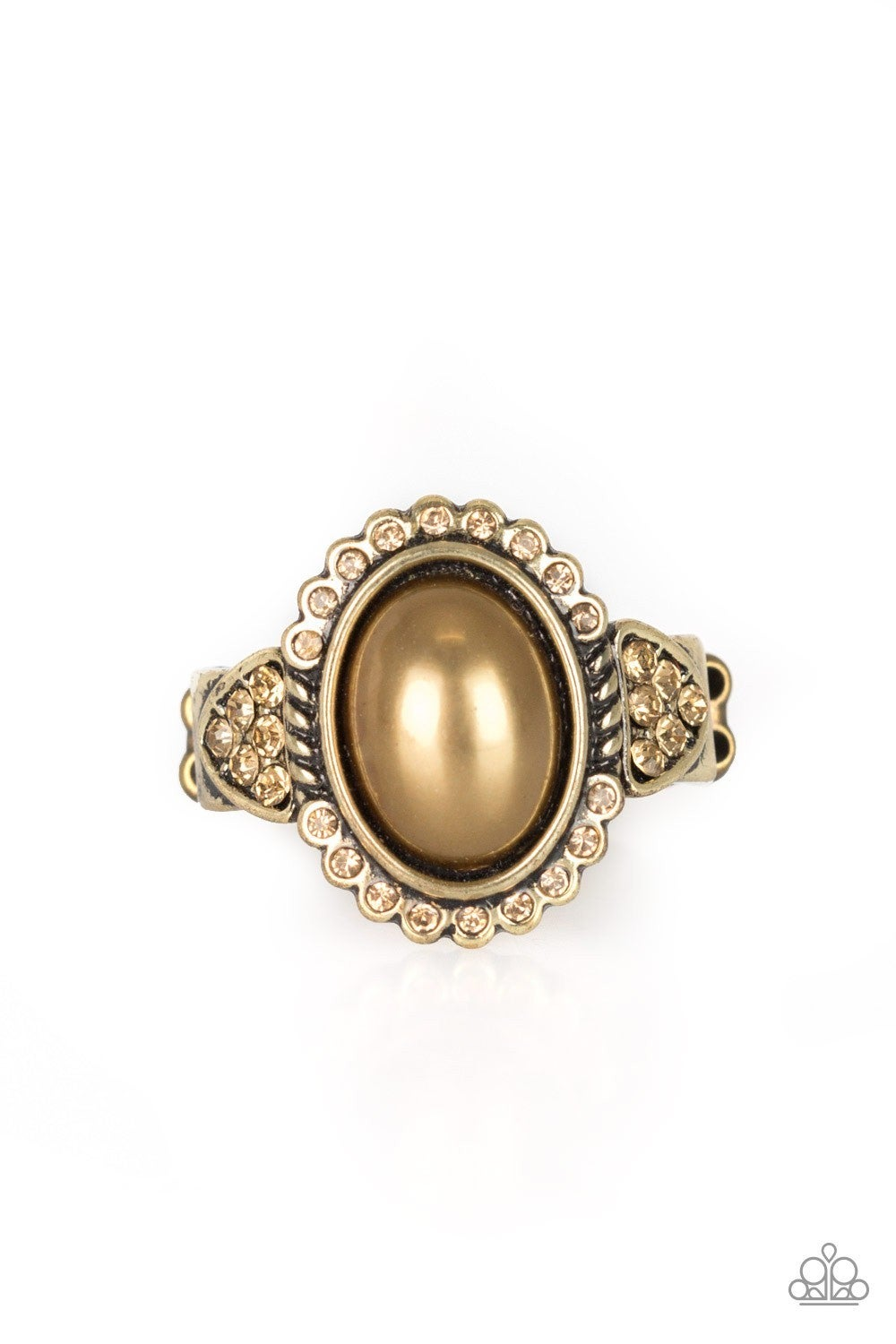 Pearl Party - brass ring