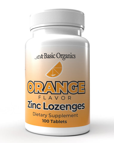 Basic Organics Zinc Lozenges- Orange Flavor