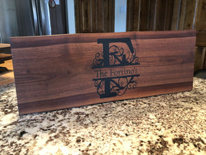 Personalized Walnut Charcuterie Board