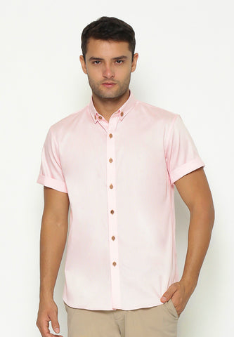 PINK-BROWN BUTTON SHIRT