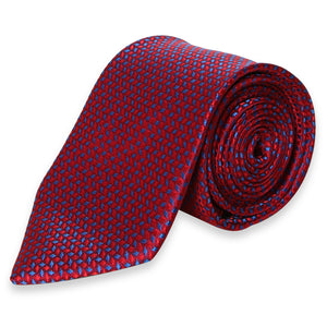 RED GEOMETRICAL REGULAR TIE