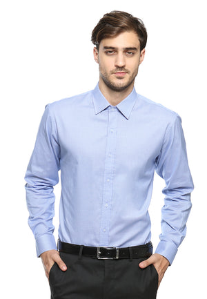 DOUBLE BARREL BLUE HOUNDSTOOTH SHIRT