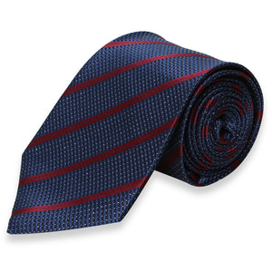 DARK GRAY REGULAR TIE WITH RED STRIPES