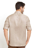 CASUAL LONG SLEEVE GREY LINEN