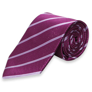 PURPLE STRIPES SKINNY TIE