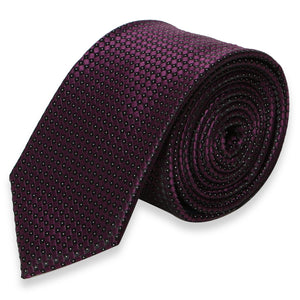 PURPLE DOT SKINNY TIE