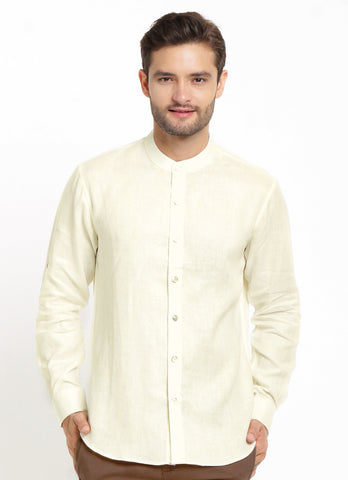 CASUAL LONG SLEEVE WHITE LINEN