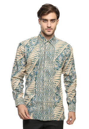 LONG SLEEVE BLUE GREEN PARANG DOBY BATIK