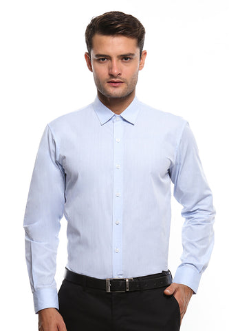 DOUBLE BARREL LIGHT BLUE SHIRT
