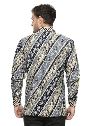 LONG SLEEVE DARK BLUE PARANG DOBY BATIK