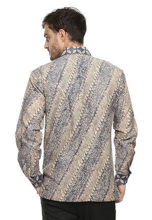 LONG SLEEVE BLUE PARANG DOBY BATIK