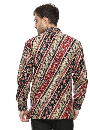 LONG SLEEVE RED PARANG DOBY BATIK