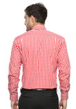 DOUBLE BARREL RED AND WHITE CHECKERED SHIRT