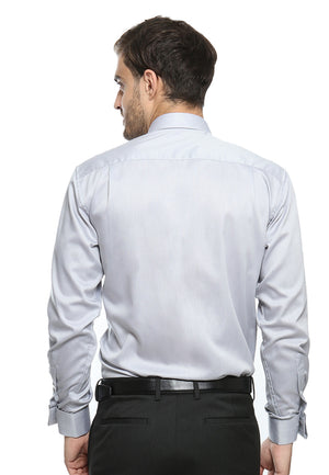 FRENCH CUFF GRAY SHIRT