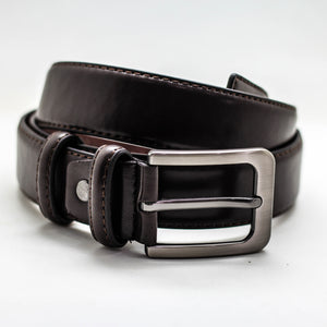 CASUAL BELT DARK BROWN 3.5 CM