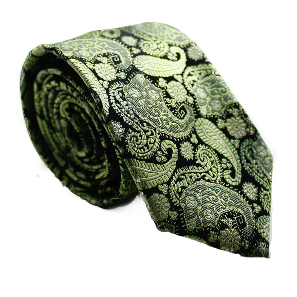 PAISLEY GREEN AND BLACK