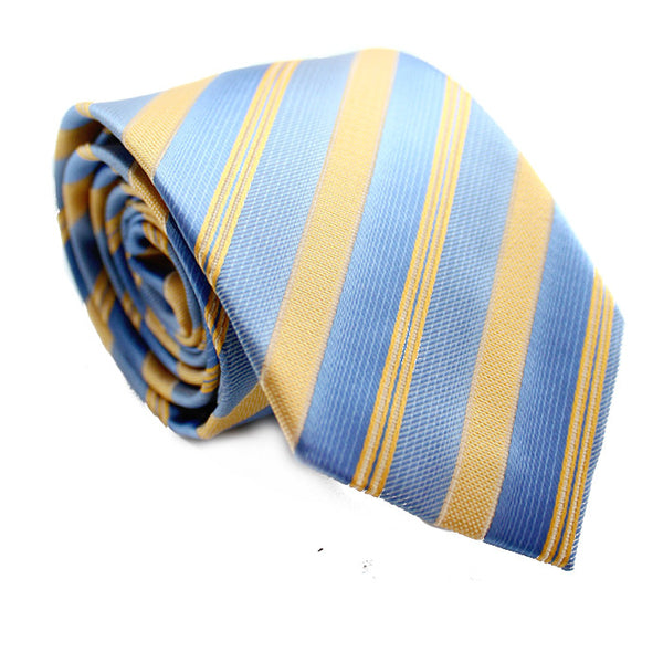 DIAGONAL STRIPE BLUE AND YELLOW
