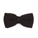 KNIT BOWTIE BROWN