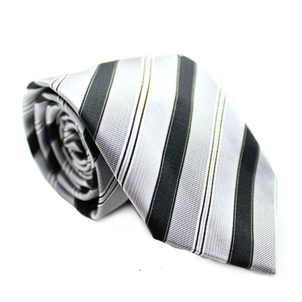DIAGONAL STRIPE WHITE BLACK