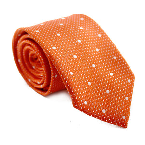 POLKADOT ORANGE WITH WHITE