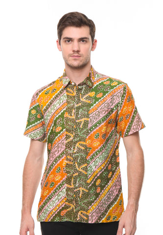YELLOW GREEN BATIK