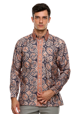 BATIK LONG SLEEVE COMBINATION BLUE