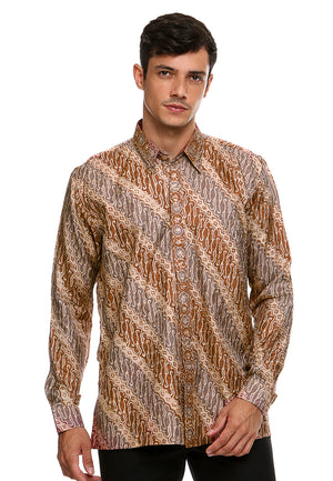 BATIK LONG SLEEVE PARANG RED