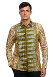BATIK LONG SLEEVE PUCUK REBUNG GREEN