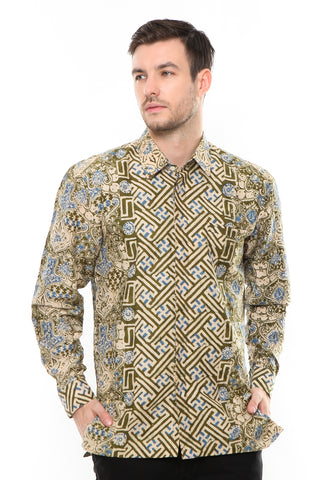 GREEN LONG SLEEVE PARANG BATIK