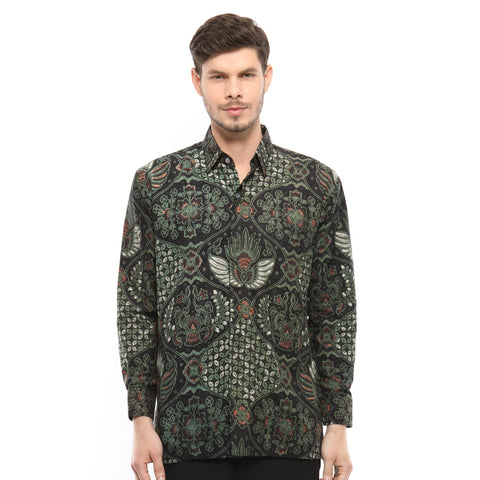 BATIK NUSANTARA GREEN LONG SLEEVE