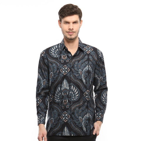 BATIK NUSANTARA BLUE LONG SLEEVE