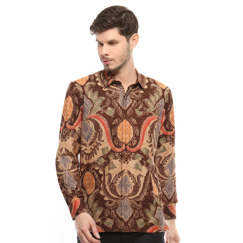 BATIK NUSANTARA ORANGE LONG SLEEVE