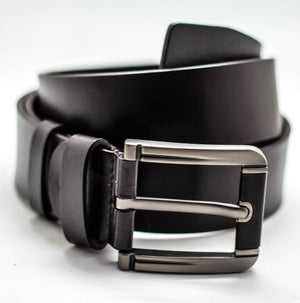 CASUAL BELT DARK BROWN 4 CM