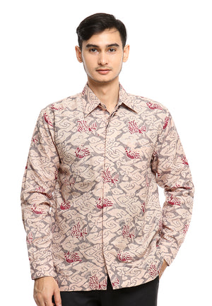 LONG SLEEVE DOBY BATIK WITH MEGA MENDUNG AND BIRD PATTERN