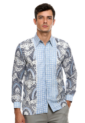 BATIK LONG SLEEVE LIGHT BLUE