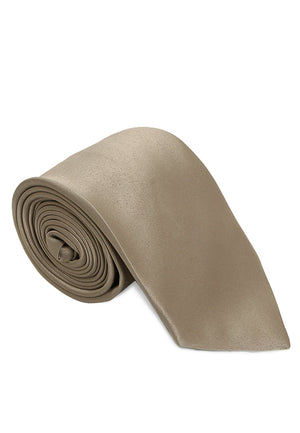 Brown Solid Reguler Tie
