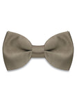 DARK BROWN SATIN SILK BOWTIE