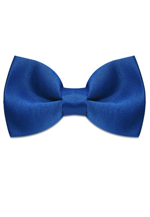 BLUE SATIN SILK BOWTIE