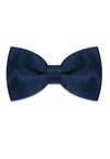 NAVY SATIN SILK BOWTIE
