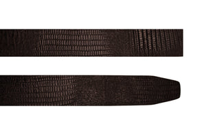 Dark Brown Croco Pattern Belt 1