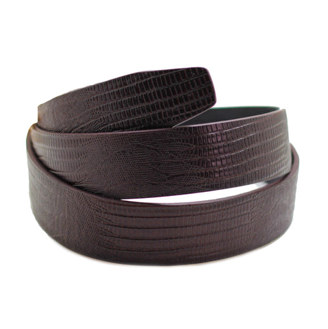 Dark Brown Croco Pattern Belt