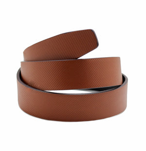 Light Brown Diagonal Stripes Belt