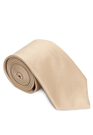 Cream Solid Reguler Tie