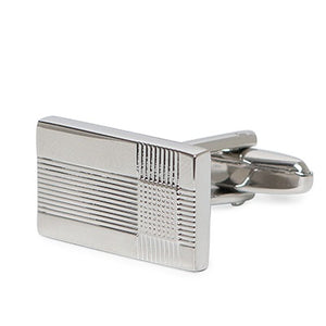 CLASSIC RECTANGLE STRIPES CUFFLINKS